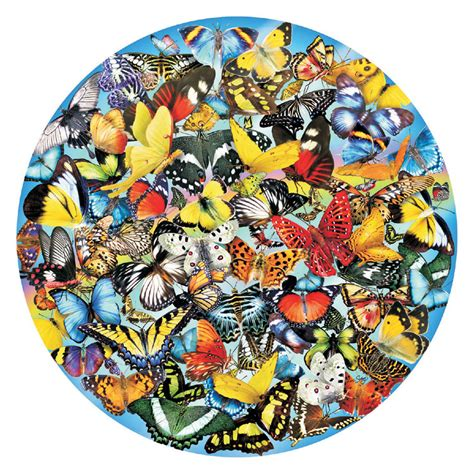 Butterflies In The Round Jigsaw Puzzle Puzzlewarehouse Com Circular Jigsaw Puzzles