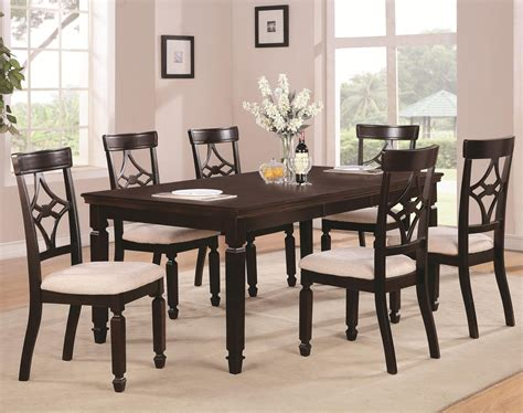 maud dining room maude cappuccino wood dining table set a sofa furniture outlet los angeles ca
