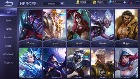 mobile legends heroes types of mobile legends heroes