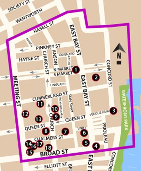 map of quarters quarter attractions things to do in charleston