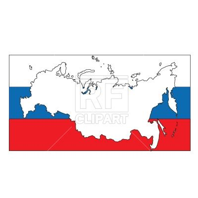 russia map clipart russia map silhouette flag royalty free vector clip