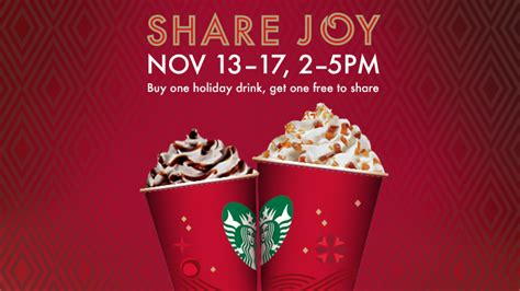 bogo alert at starbucks starbucks free drinks