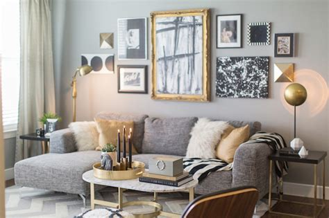 Gold And Living Room by Black White And Gold Living Room