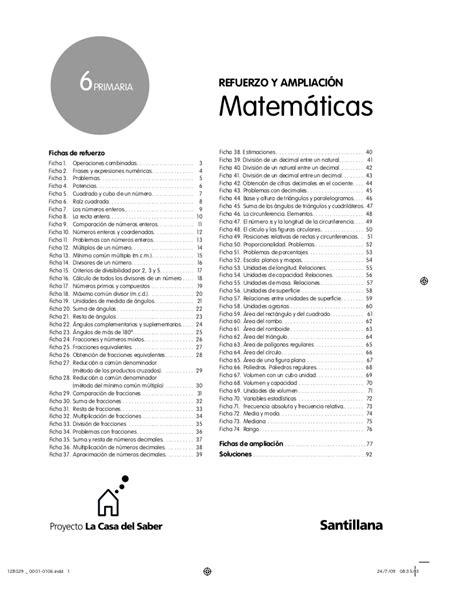 refuerzo y liaci 243 n 6 186 santillana cuadernillo
