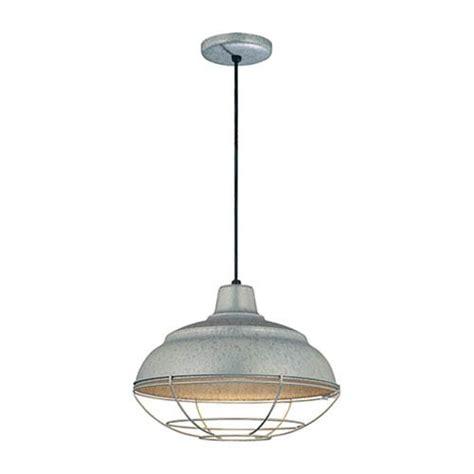 Galvanized Pendant Light Fixture Galvanized Warehouse Pendant Light Bellacor