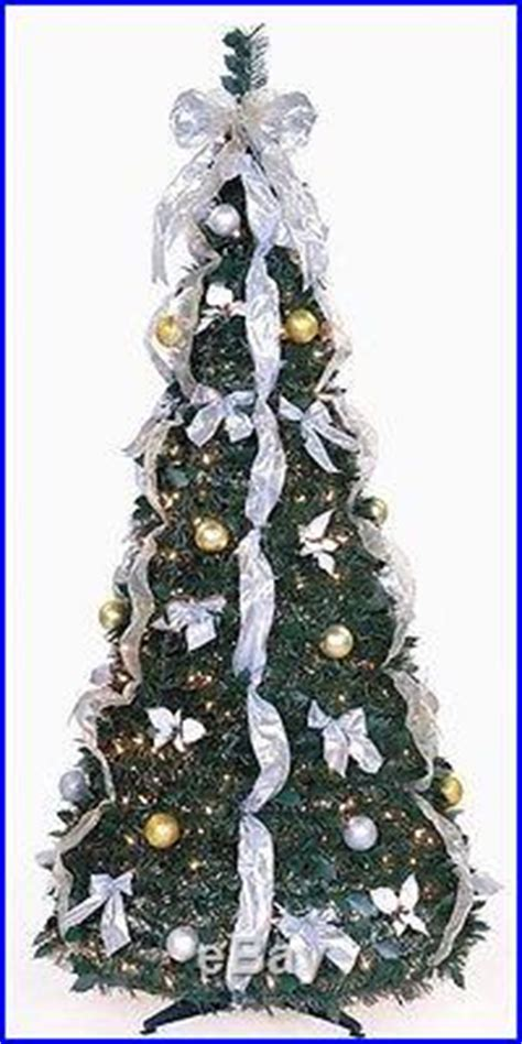 pull up christmas trees with lights 6 ft pull up decorated pre lit collapsible pop up tree 350 lights decor