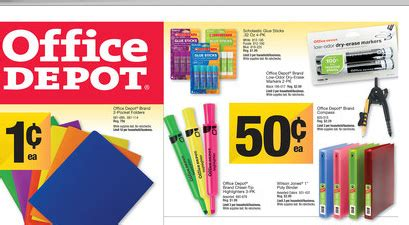 Office Depot View Paycheck Back To School Deals By Store 8 12 2013 Coupons 4 Utah
