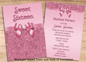 items similar to printable sweet 16 pink sequins and bow invites sided jpeg affordable