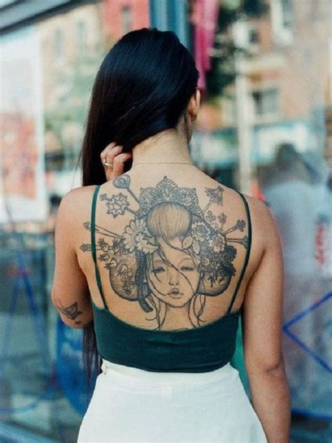 tatuaggi grandi sulla schiena idee  foto