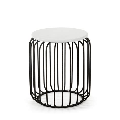 Table D Appoint Metal 5572 by Table D Appoint Design M 233 Tal Noir Et Blanc