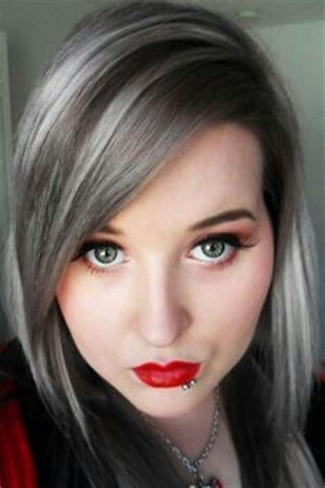 black hair with grey streaks hair style ideas 40 plus on pinterest gray streaks gray