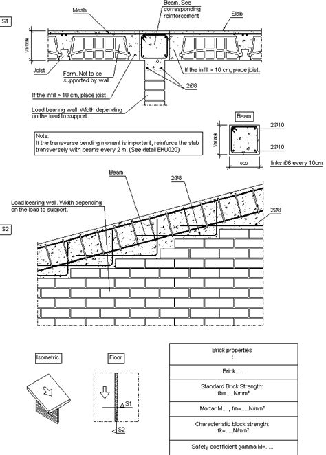 Load Bearing Wall Parallel To Floor Joists by Construction Details Cype Fiu228 Supported Between