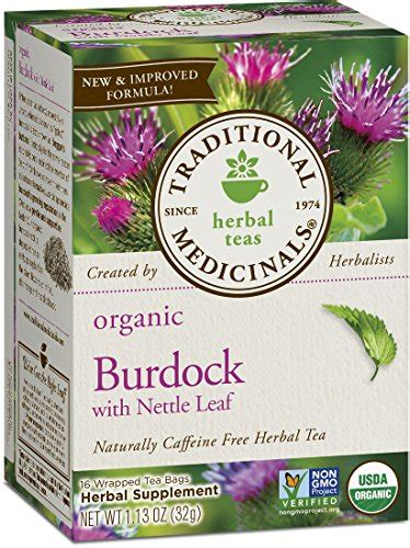 Lemon Everyday Detox Reviews by Traditional Medicinals Organic Burdock With Nettle Leaf