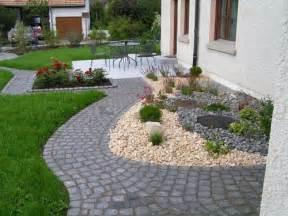 gartengestaltung ideen mit steinen vorgartengestaltung mit kies 15 vorgarten ideen