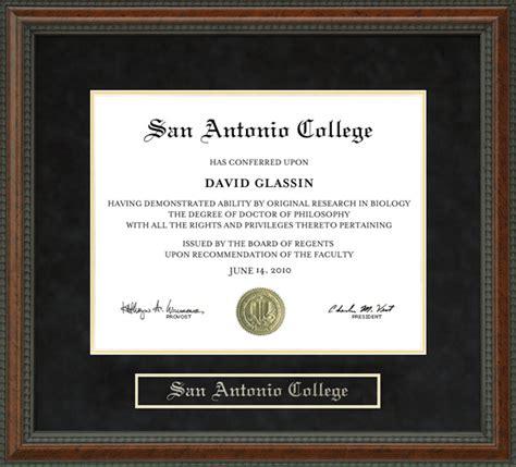 san antonio college sac diploma frame wordyisms