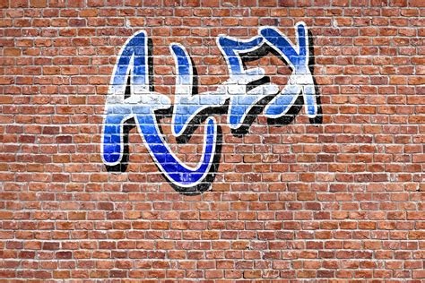Custom name graffiti wallpaper mural muralswallpaper co uk