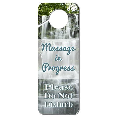 Door Knob Hanger by Do Not Disturb Plastic Door Knob Hanger Sign In