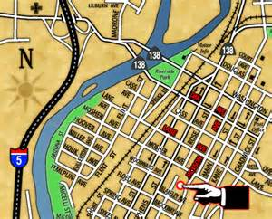 roseburg downtown city map