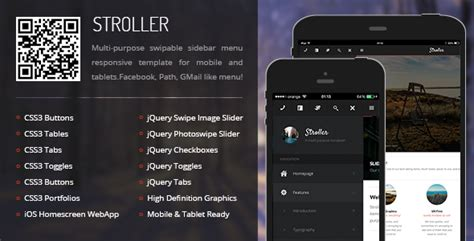 themeforest drag mobile tablet responsive template stroller mobile tablet responsive template by enabled