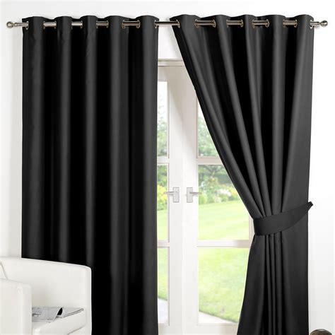 black curtains eyelet ring top fully lined pair eyelet ready made curtains