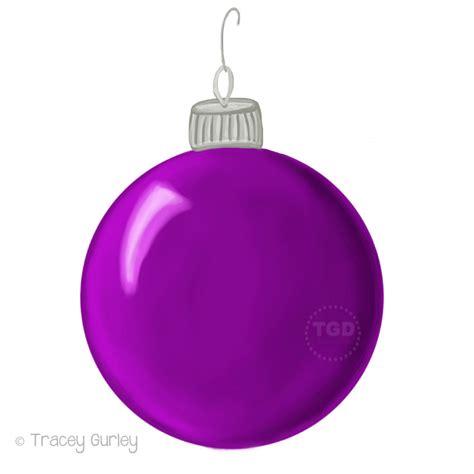 purple christmas ornament clip art hand painted clip art