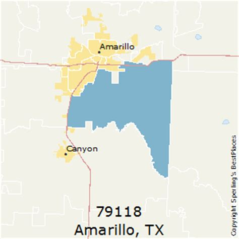 amarillo texas zip code map best places to live in amarillo zip 79118 texas