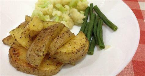 resep kentang panggang enak  sederhana cookpad
