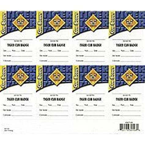Boy Scout Card Template by 1000 Images About Tiger Cub Scouts On Tiger