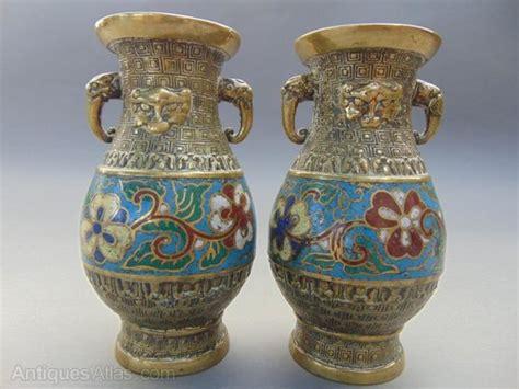 Provincial Vases by Antiques Atlas Pair Of Provincial Brass Cloisonne Vases