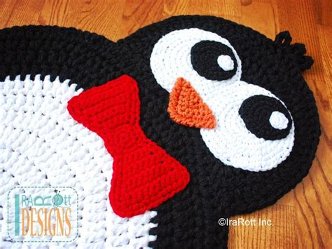 penguin rug floppy penguin rug pdf crochet pattern by irarott inc crafts n diy rugs