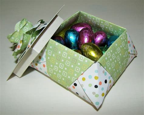 Origami Egg Box - origami easter basket stin up origami boxes