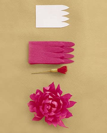 artificial paper flower making tutorial chic vintage crafts diy crepe paper flowers