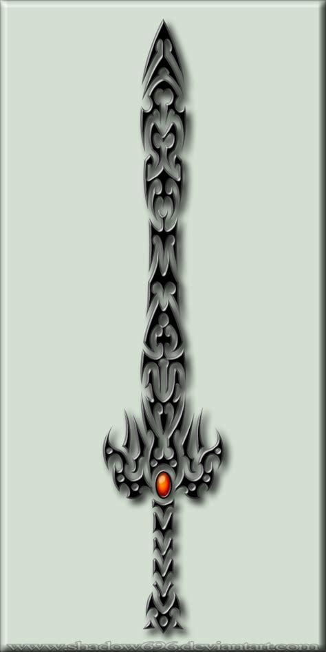 fire stone sword tribal by shadow696 on deviantart