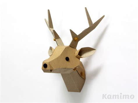 Papercraft Deer - paper craft kit le paper go deer trophy kraft paper