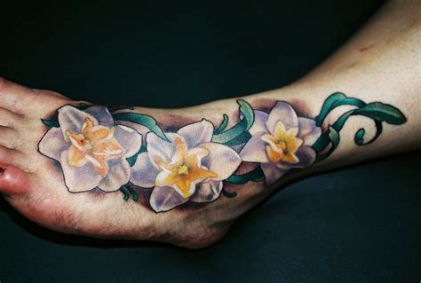 december birth flower tattoo narcissus birth flower for the month of december