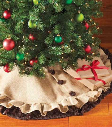 rustic christmas tree skirt project materials joann
