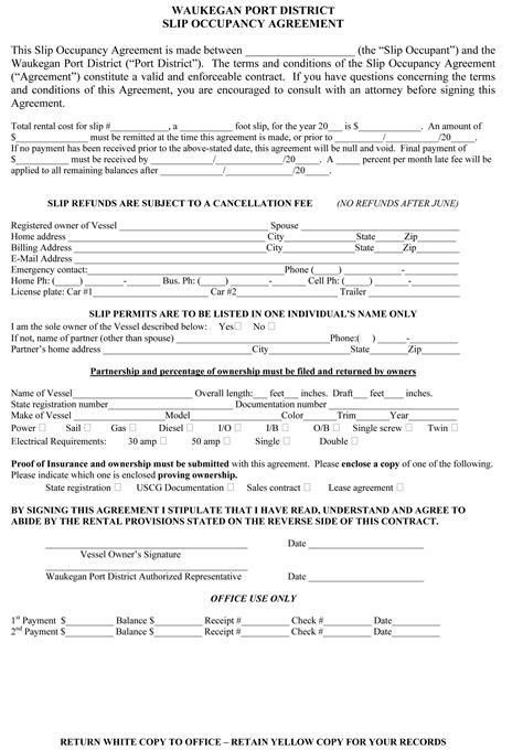 occupancy agreement template best photos of occupancy agreement template form