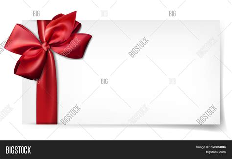 Big 5 Gift Cards - gift card ribbon satin red bow vector photo bigstock