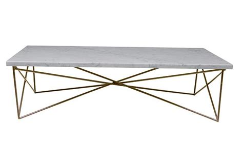 Elle Criss Cross Marble Coffee Table in Melbourne