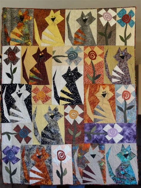 Quilting Cats by Quilt For Cat Cats Cat Quilt
