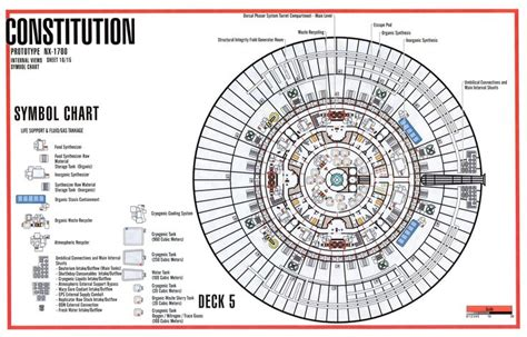 starship floor plan deck 5 schematic from tos u s s enterprise ncc 1701