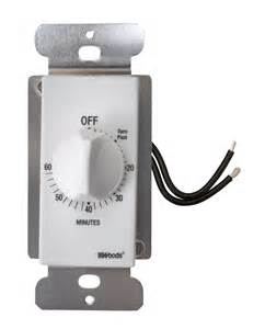 bathroom fan timers controls turn the to the desired running time and the