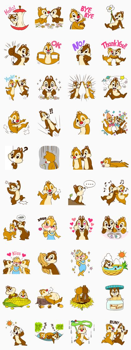 theme line android chip n dale chip n dale line sticker rumors city