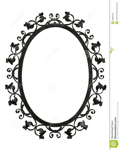 antique iron mirror frame stock photo image of border