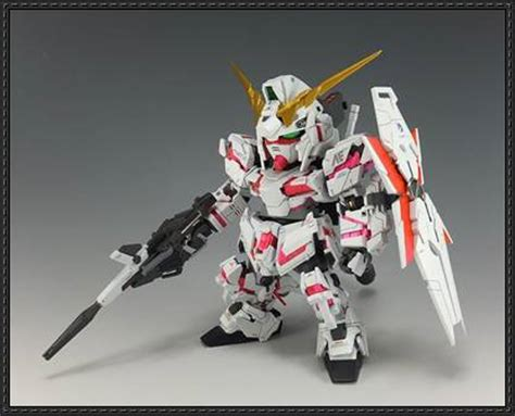 Unicorn Gundam Papercraft - sd rx 0 unicorn gundam destroy mode free papercraft