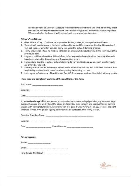 client consent form template 10 client consent form sles free sle exle