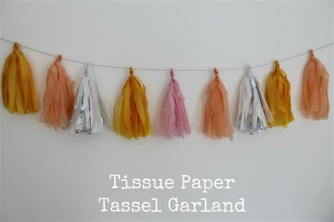How To Make A Tissue Paper Tassel Garland - diy tutorial tissue paper tassel garland boho weddings