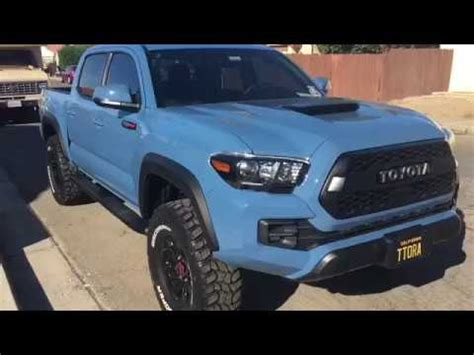 cavalry blue trd pro 2018 off roading (update) youtube