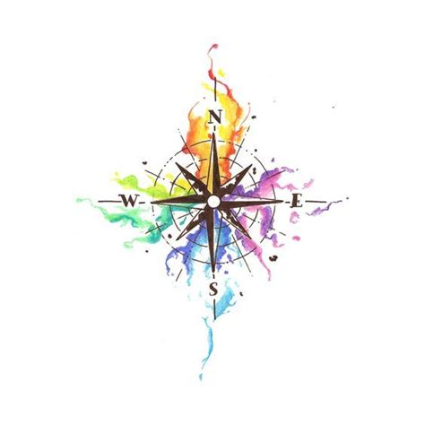 compass tattoo with music notes 25 best ideas about rainbow tattoos on pinterest music