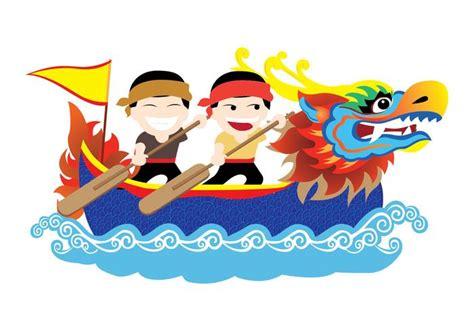 cartoon chinese boat dragon boat festival vector download free vector art